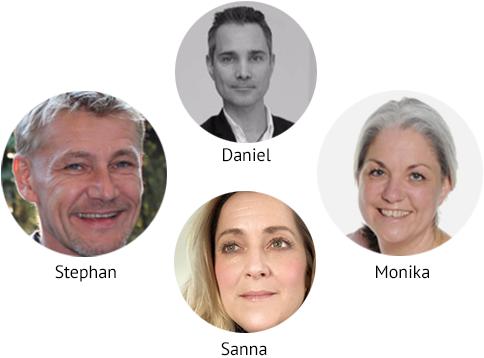 Vi håller i din UGL utbildning i Göteborg - Stephan, Monika, Daniel, Sanna